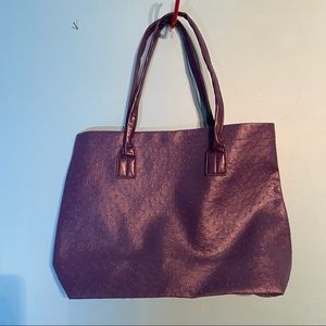 🛍3/$25 Purple spotted tote bag